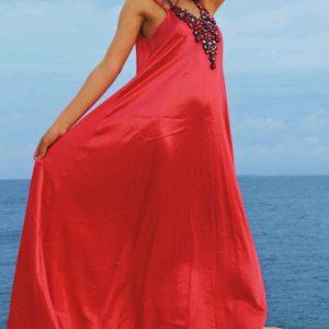 satin dress ibiza fashion 2018 pois ibiza style